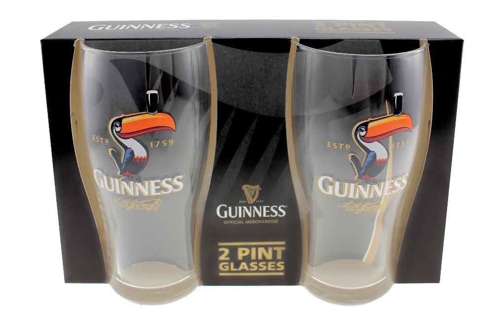 Guinness® Toucan Pint Glass Set of 2